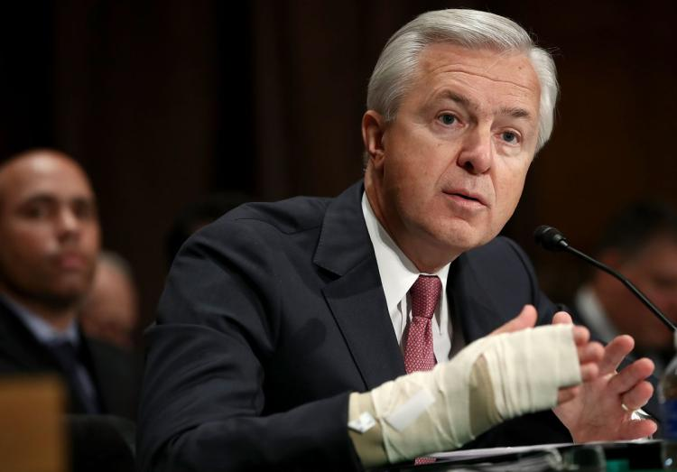 John Stumpf, hearing, Wells Fargo, scam, senate